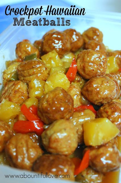 Crockpot Hawaiian Meatballs