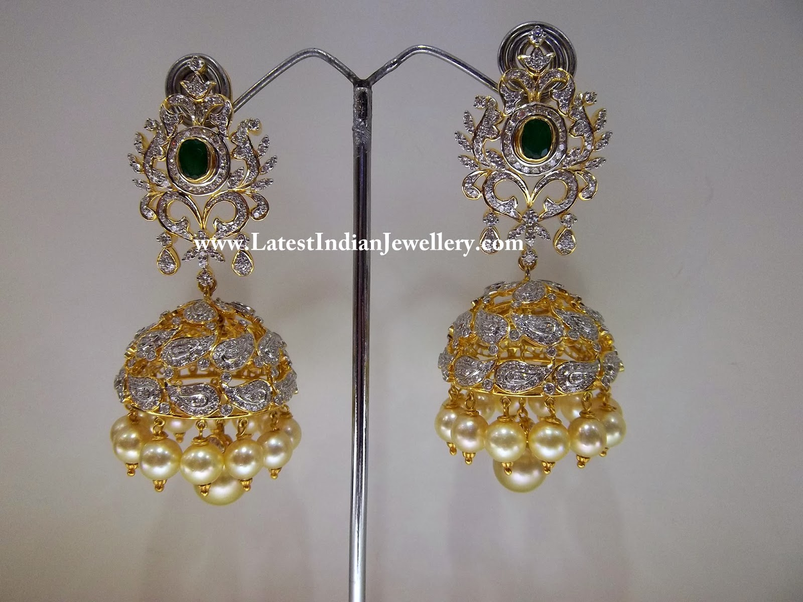 Beautiful Diamond Buttalu Latest Indian Jewellery Designs