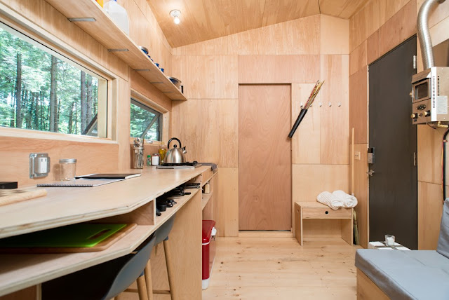 minimalist tiny house cabin