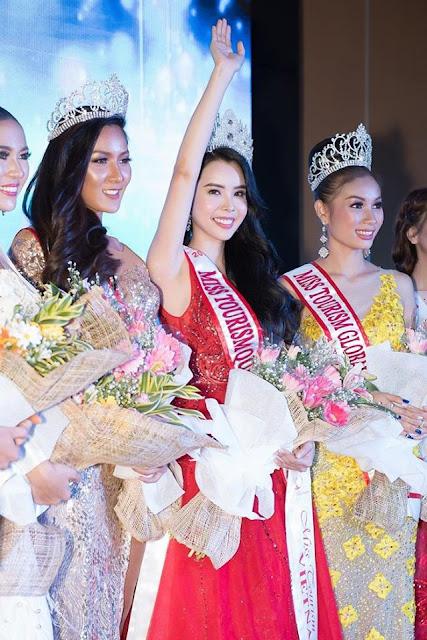 """Huỳnh Vy sở hữu """"vòng ba 100"""" đăng quang """"Hoa hậu Du lịch Thế giới 2018"""""""