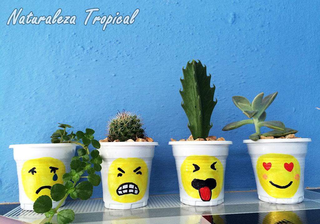 Naturaleza tropical macetas con emojis las quieres diy for Almacen de plastico para jardin