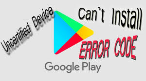 how to fix uncertified google play store
