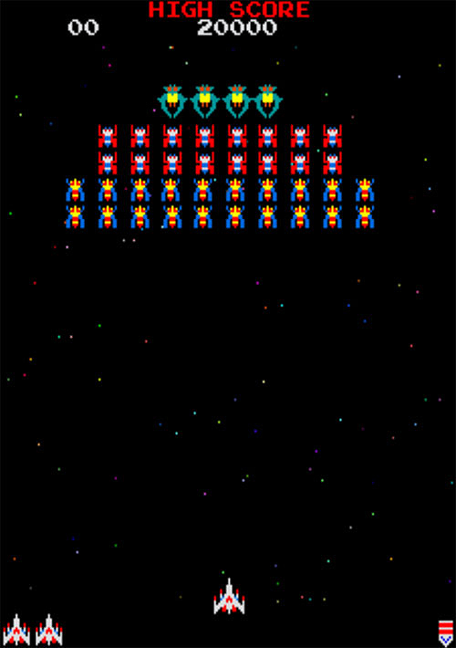 Imagen: Momento del videojuego Galaga