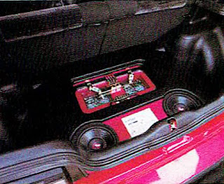 picture of Dustin Culton's 1990 Red Honda Civic's rear interior