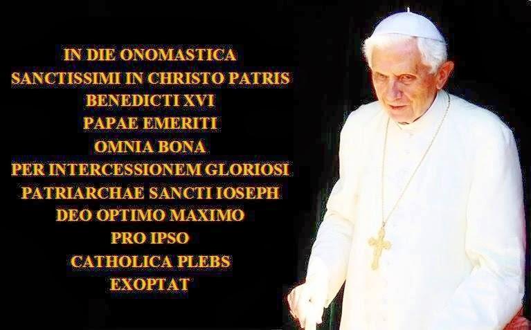 Buonenotizienews Buon Onomastico Al Santo Padre Benedetto Xvi