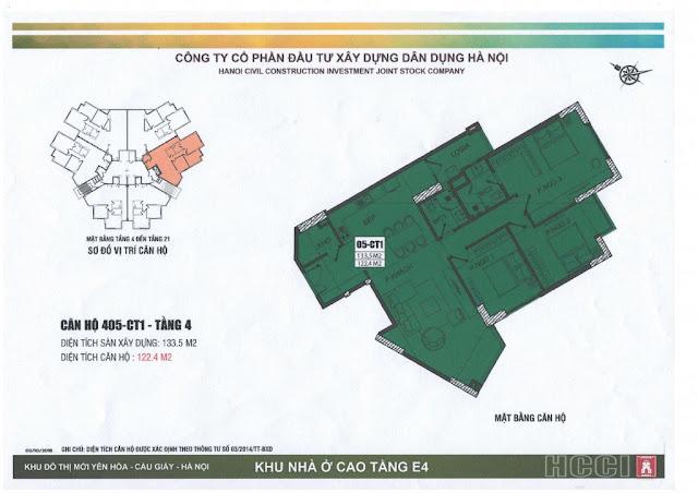 thiết kế căn số 5 tòa ct1 chung cư e4 yên hòa