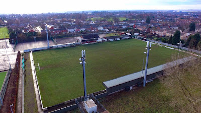 Bird's eye picture of Brigg Town Football Club's Hawthorns ground taken by Neil Stapleton - see Nigel Fisher's Brigg Blog