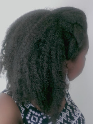 Stretched natural hair