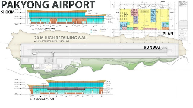 Architectural Drawing of Pakyong Airport, Sikkim, INDIA