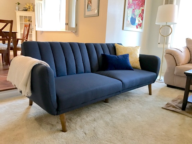 Living Room Sets Under 1000 Dollars domestic apologist: navy + yellow living room refresh