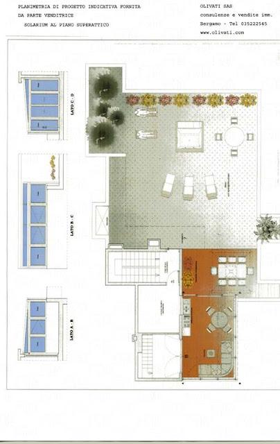 attico con solarium vendita bergamo centro via paglia