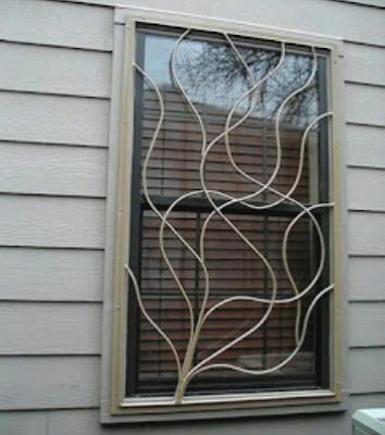 jendela besi unik