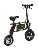 Swagtron SwagCycle E-Bike, Folding Electric Bicycle, no-pedal design, fully electric compact e-bike, with 36v lithium-ion battery, 250 watt motor, 10 mile range, 10 mph