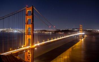 Wallpaper: Golden Gate & Mirror on Manhattan