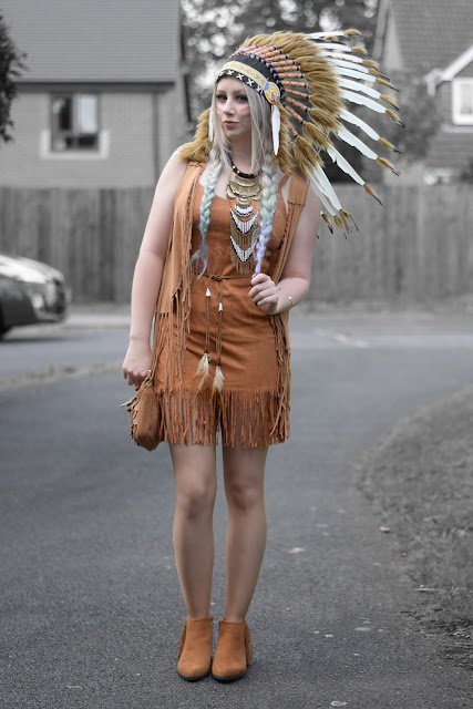 Sammi Jackson - DIY American Indian Outfit
