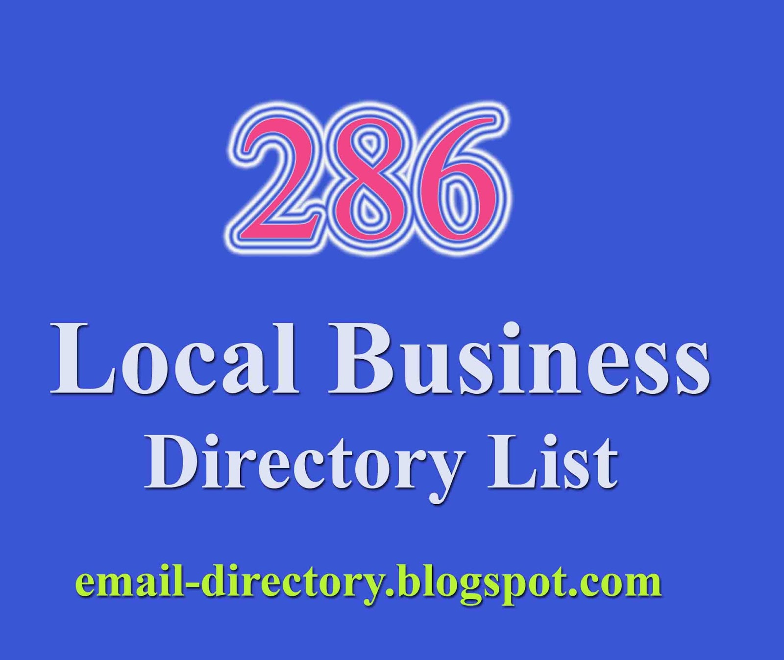 Top 286 Local Business Directories (Mega Collection) - Email