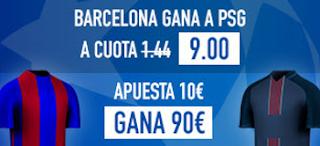 Supercuota 9 sportium Barcelona vs PSG + 200 euros liga 8 marzo JRVM