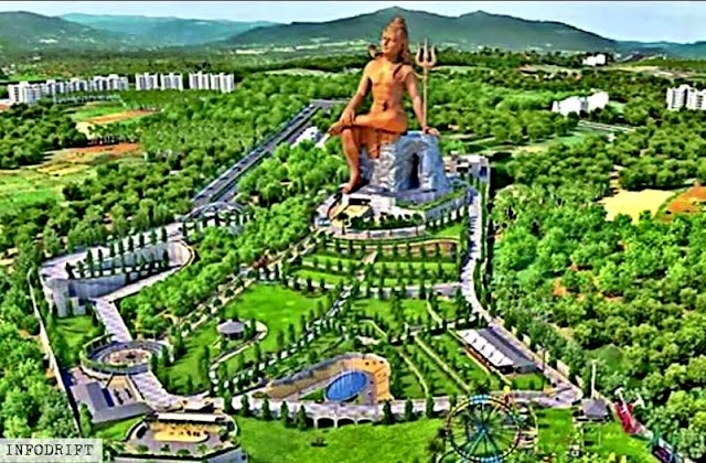 "Shiva statue: The valleys of Nathdwara to be shortly echoed by ""HAR HAR MAHADEV"" as world's largest ""Shiva pratima""  is on the verge of completion..."