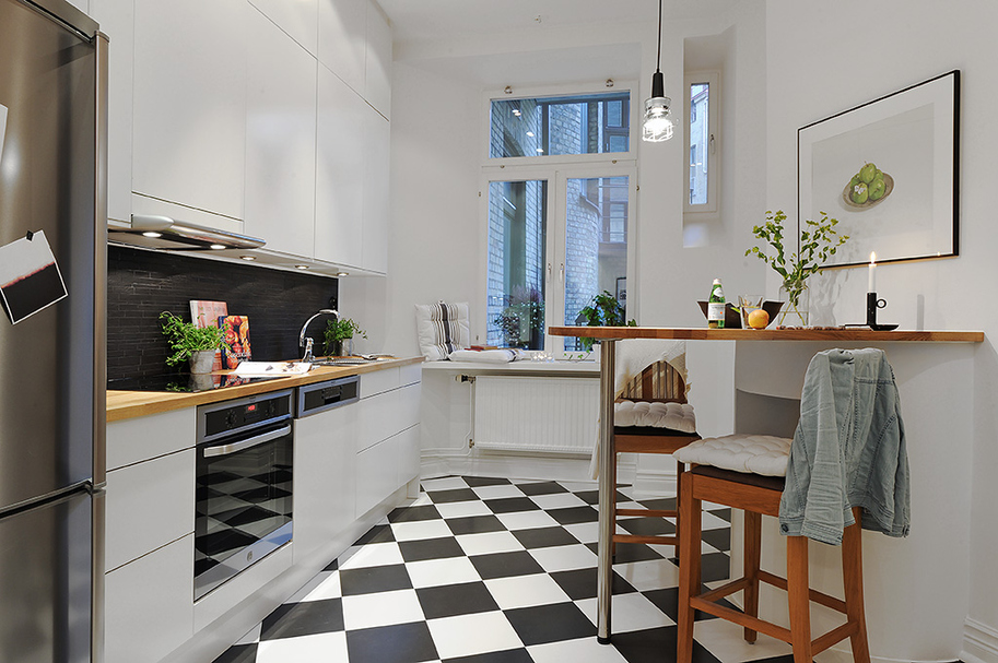 Decor Inspiration A Kitchen To Live In: Compact Living In Black And White
