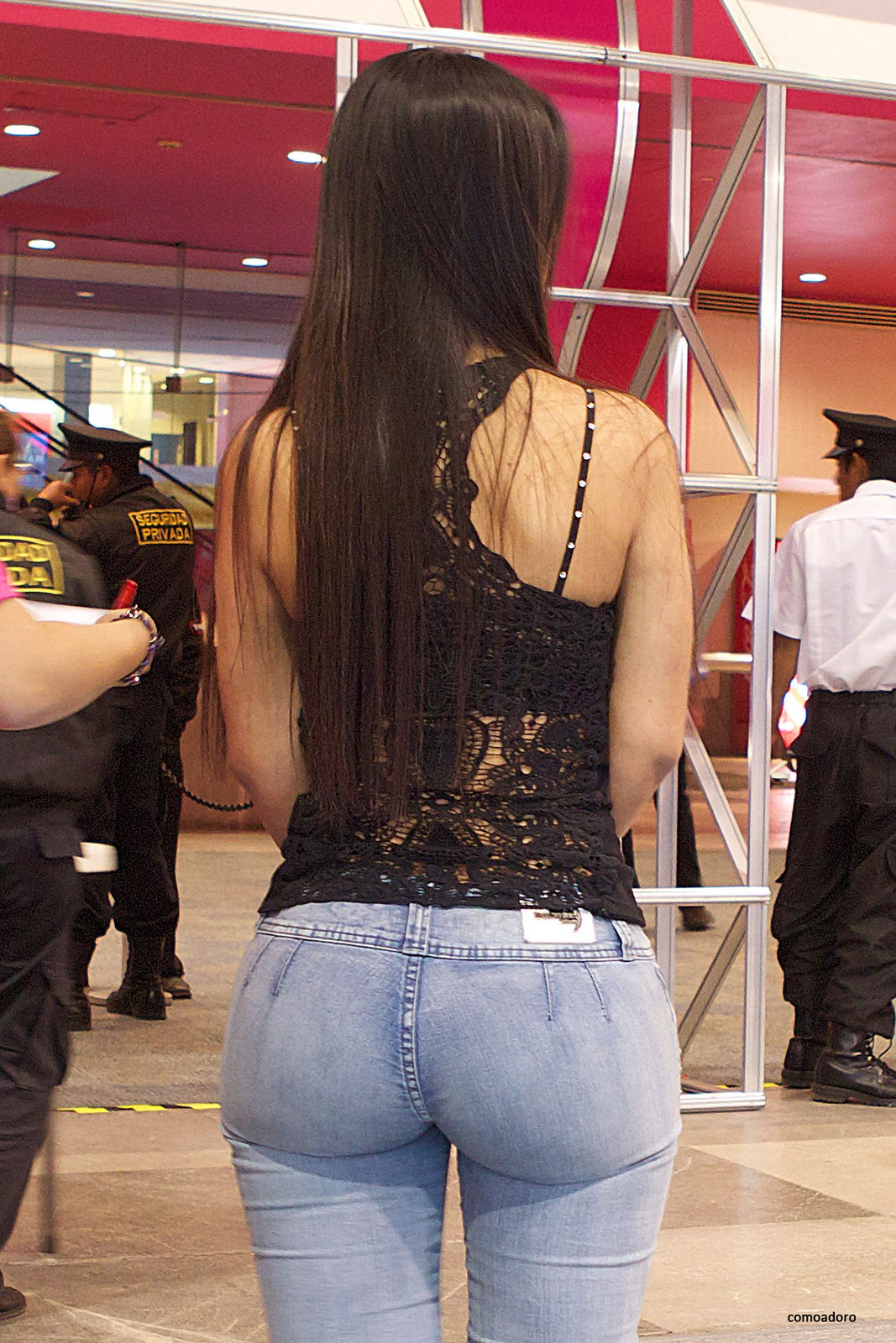 Cute Girl Whit Perfect Butt Jeans Candid  Divine Butts -5423