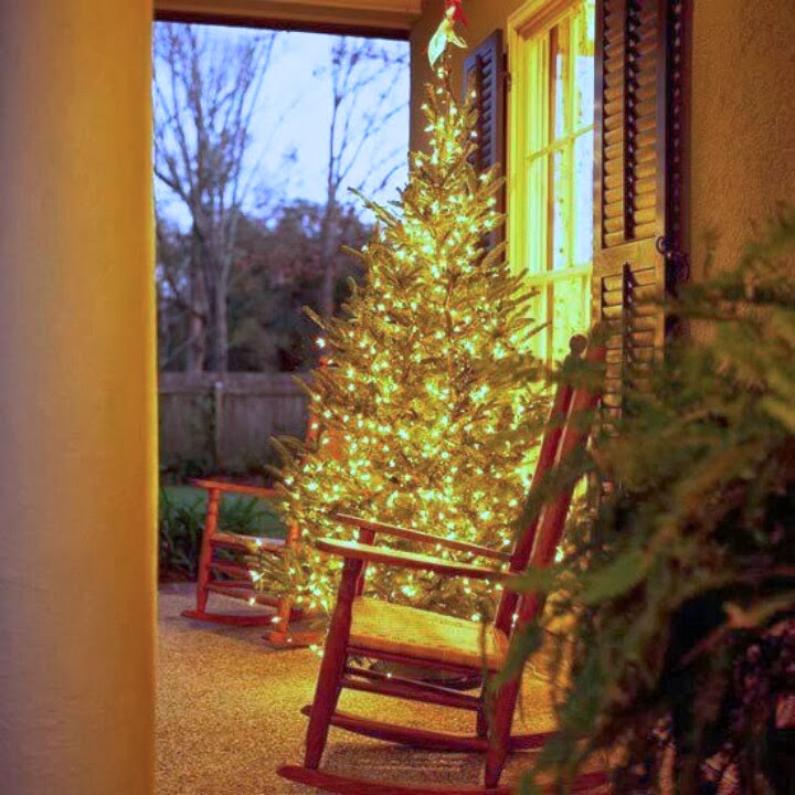Christmas Tree On Front Porch Inspiration Thursday