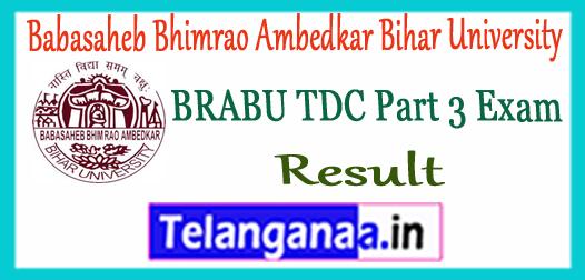 BRABU TDC Babasaheb Bhimrao Ambedkar Bihar University Part 3 BA B.Sc B.Com Result 2017
