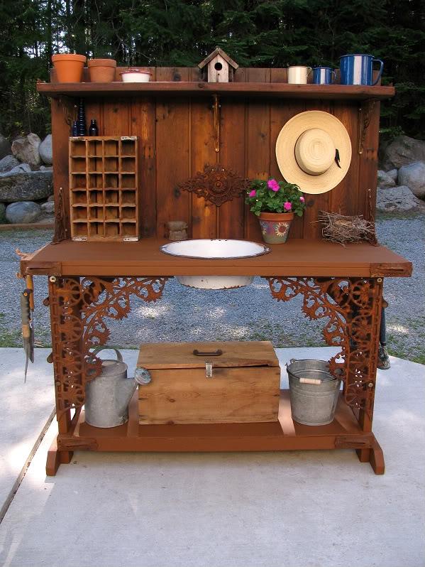 Enjoyable The Decorated House Garden Potting Bench Ibusinesslaw Wood Chair Design Ideas Ibusinesslaworg