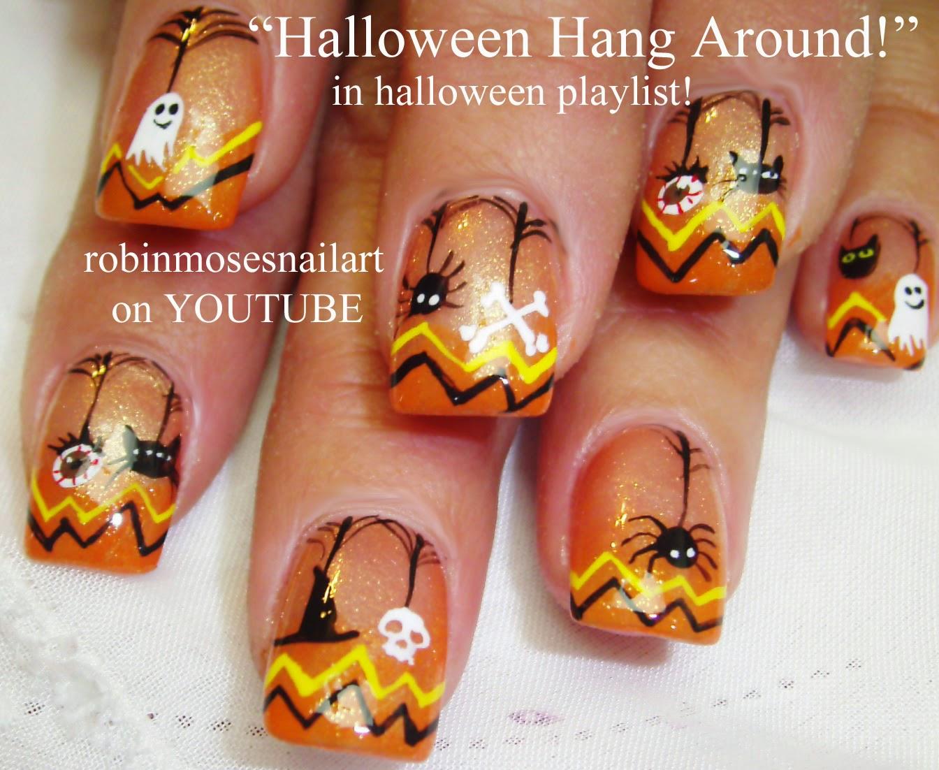 """Robin Moses Nail Art: """"halloween nails"""" """"black cat nails ..."""