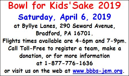 4-6 Bowl for Kids' Sake 2019