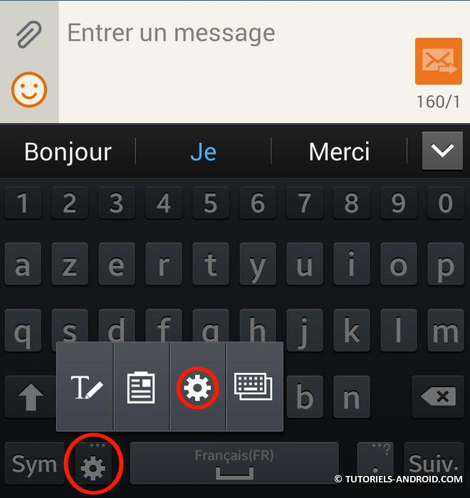 Correcteur clavier Android