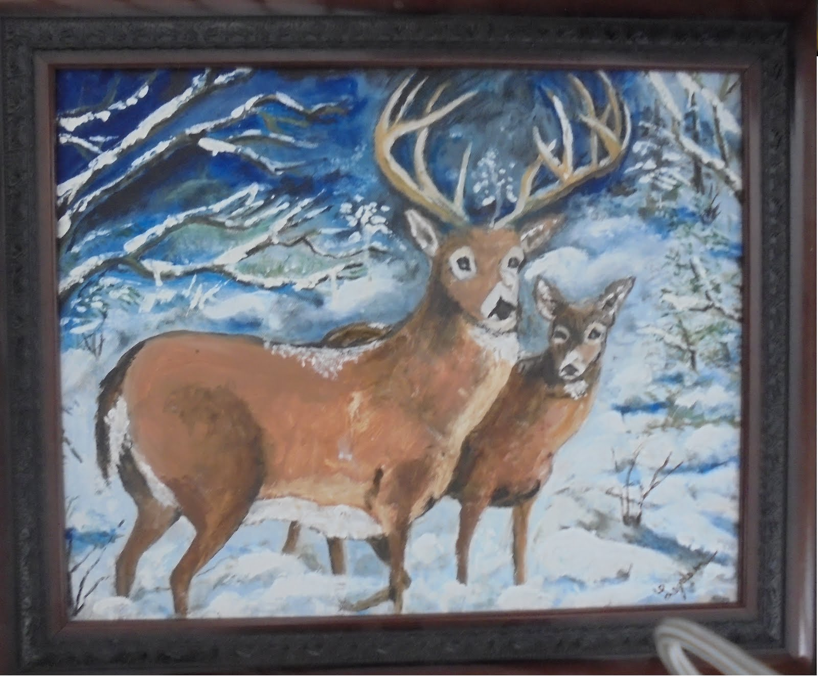Winter Deers in Maine # 89