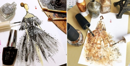 00-Chan-Clayrene-Artclaytion-Haute-Couture-Paintings-using-Nail-Polish-and-Brushes-www-designstack-co