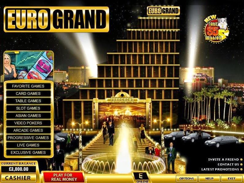 EuroGrand Casino Landing Page