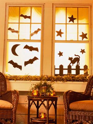 decoracion halloween ideas para decorar con siluetas las ventanas decorando mejor. Black Bedroom Furniture Sets. Home Design Ideas