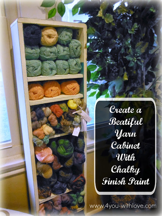 4 You With Love: A CD/DVD Tower to a Yarn Stash Cabinet (#ChalkyFinish)