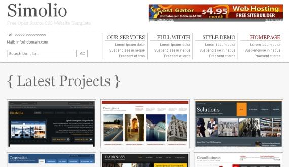 Free White Blog Jquery CSS Website Template