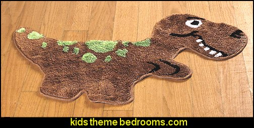Dino Shaped Rug  dinosaur theme bedrooms - dinosaur decor - decorating bedrooms dinosaur theme - dinosaur room decor - dinosaur wall murals - dinosaur wall decals - life size dinosaur props - dinosaur duvet