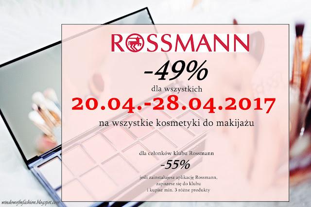 nowa rozpiska promocji w Rossmannie 2017