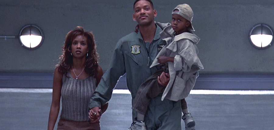 Vivica A. Fox, Will Smith şi Ross Bagley în Independence Day (1996)