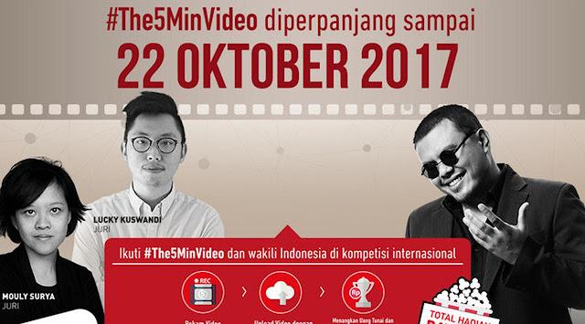menangkan hadiah ratusan juta rupiah dan wakili Indonesia di kompetisi internasional Berita Terhangat Ikuti Kontes Video 5 Menit, Total Hadiah Lebih dari 1 Milyar