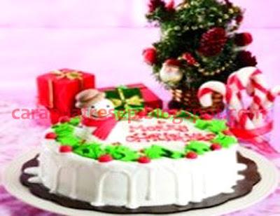 Foto Resep Cake Natal Bersalju Putih Bersih Sederhana Terbaru Spesial Asli Enak
