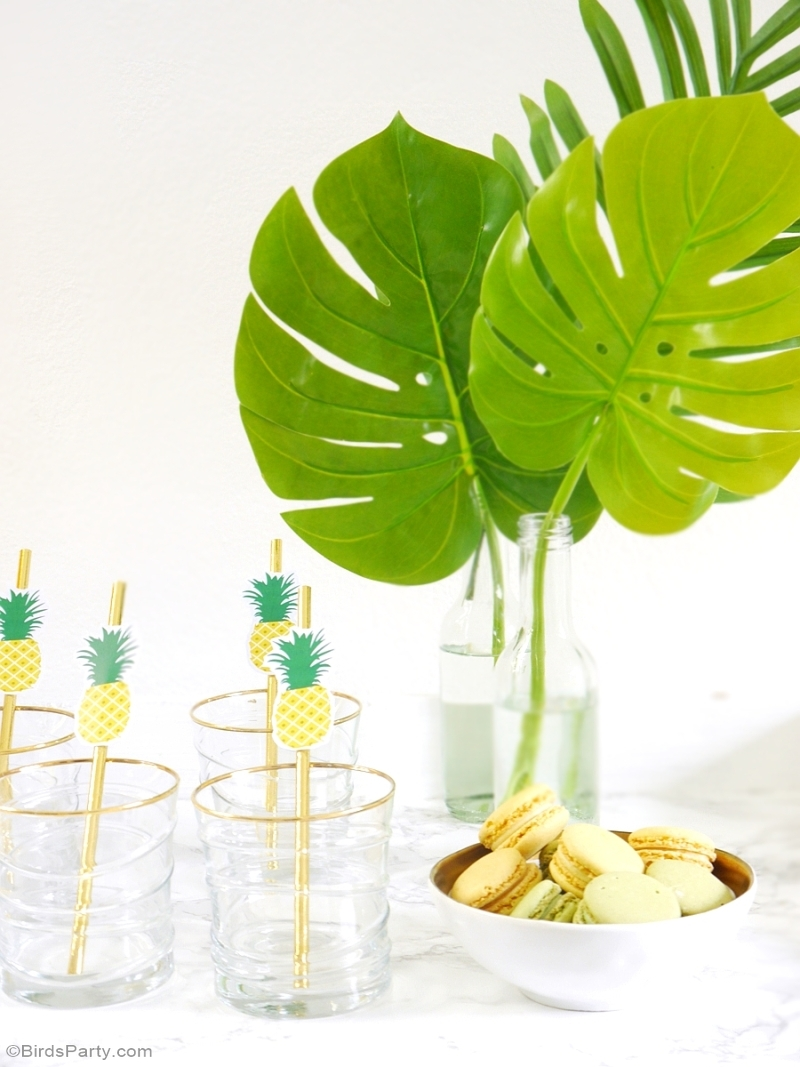 Party Like a Pineapple Birthday DIY Cocktail Bar - BirdsParty.com