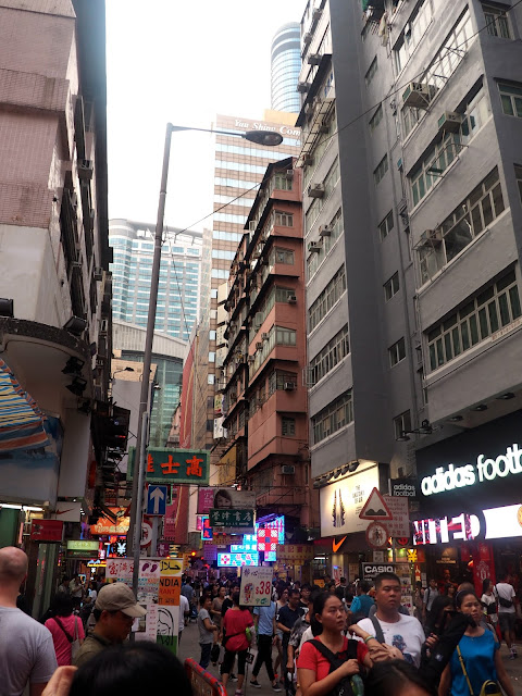 Streets of Mong Kok, Kowloon, Hong Kong