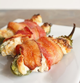 A bacon wrapped low carb jalapeño popper recipe