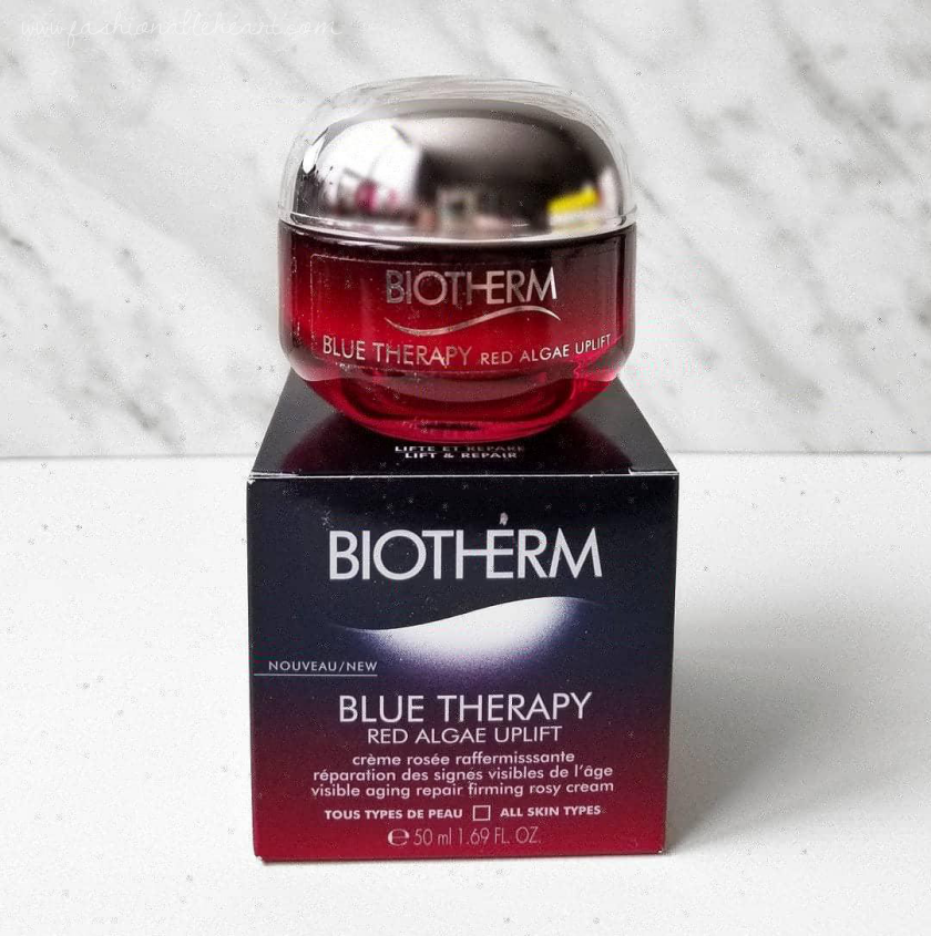 bblogger, bbloggerca, bbloggers, canadian beauty blogger, beauty blog ,southern blogger, luxury, prestige, skincare, biotherm, shoppers drug mart, blue therapy, red algae, uplift cream, moisturizer, review, fine lines, anti-aging