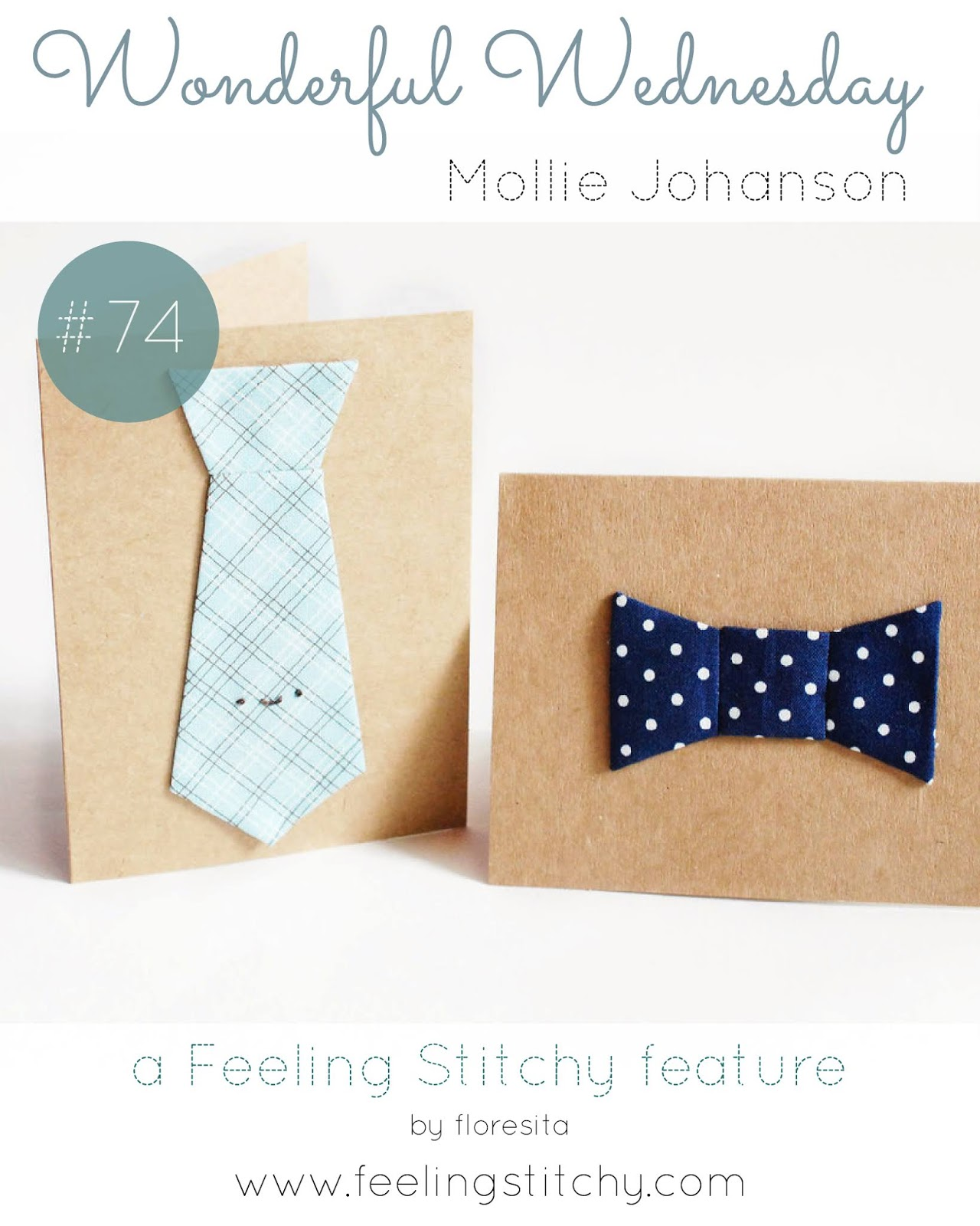 Wonderful Wednesday 74 - Mollie Johanson EPP Ties pattern as featured by floresita on Feeling Stitchy