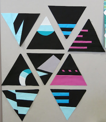 Design Improv with Triangles - Blocks made by Christine