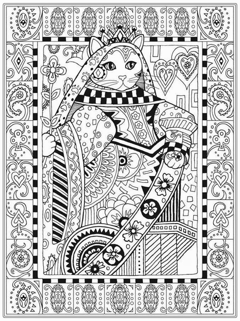 Cat Coloring Pages For Adult | Realistic Coloring Pages