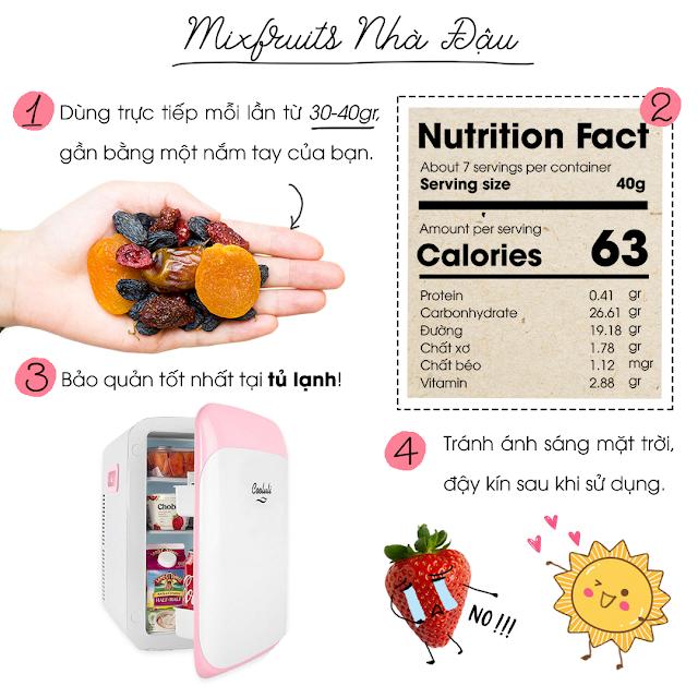Hướng dẫn sử dụng và bảo quản Mixfruits