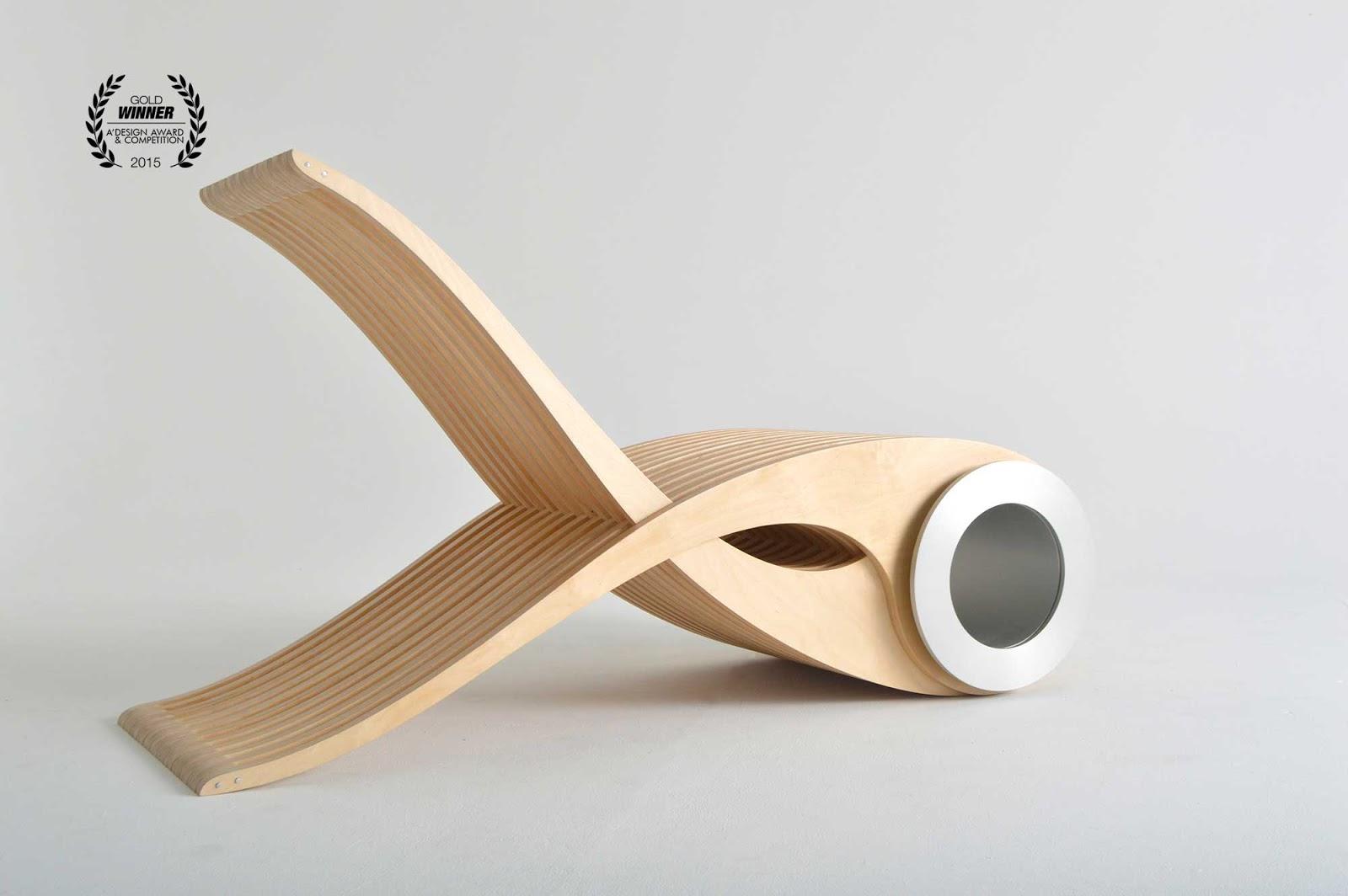 Fotel z drewna